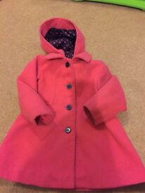 Pink girls jacket 24-36 months