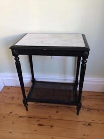 Period marble top side table