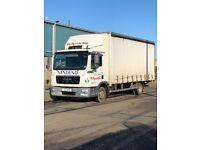 Man 7.5 tonne curtain lorry