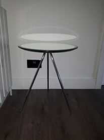 Habitat round mirrored side table