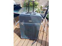 Large grey canvas suitcase £10.00