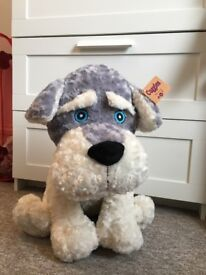 Cute Stuffed Puppy 45cm height, Soft Toy, Stuffed Animal, Christmas present