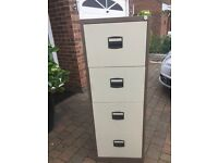 4 draw filing cabinet with key