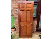 Six-Panel Internal-Interior Solid Wood Door - 196cm x 76cm x 3.6cm