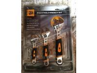 JCB Adjustable Wrench Set New