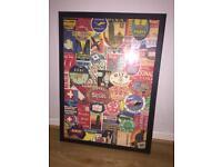 3xblack plastic framed prints