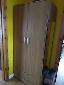 2 door oak wardrobe