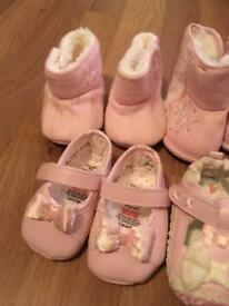 Baby girl shoes and booties