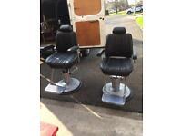 2 Belmont sportsman barbers chairs