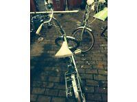 Folding bike vintage british made classic whitewall tyres seat universal campervan camping caravan
