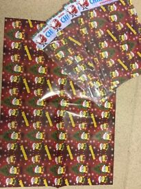 Box of Christmas wrapping paper
