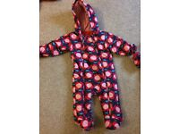 Girls all in one snow suit- age 9-12 months