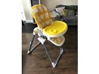 Baby high chair Cosatto Noodle Supa Hen House reclines Yellow height adjust