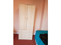 Cheap almost new Wardrobe, Table, Chairs many kitchen items