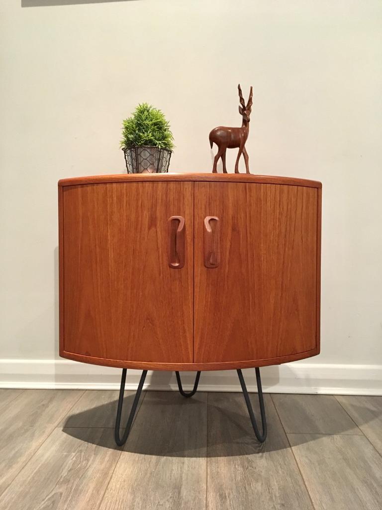 G plan vintage retro teak corner unit cupboard