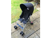 BabyStart Pushchair with Detachable hood , Shopping basket & Raincover
