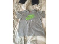 Baby boys Nike air top and shorts size 18-24 months