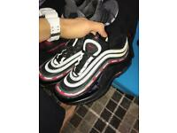 Nike undefeated black red and green reflective air max 97