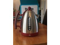 Dualit Red with brushed steel 1.5L jug kettle