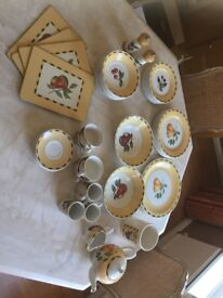 Dinner Service - Churchill Somerset Fruits (various pieces) Made in Staffordshire England