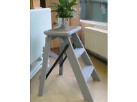 Small Wooden Chalk Painted Step Ladder