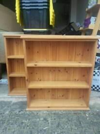 2× Wooden bookcase