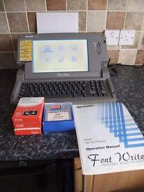 Word Processor. Sharp FW700 Font writer
