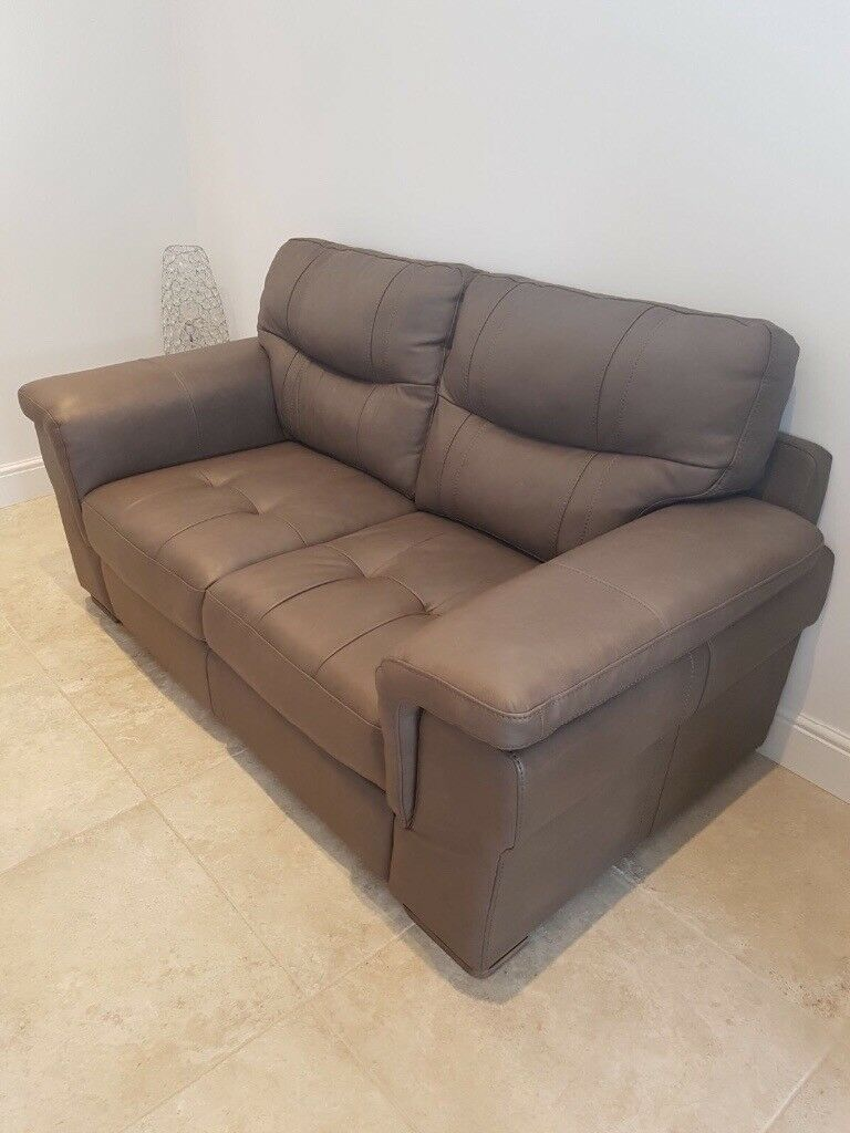 Brown Leather Sofa- 3 seater