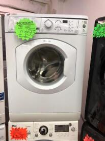 HOTPOINT 9KG DIGITAL TIMER SCREEN WASHING MACHINE