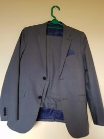 Grey 2-piece suit for 12-13 yr old boy; worn once - as new!