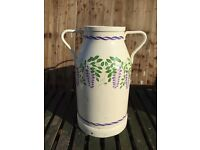 Hand Painted French Milk Churn