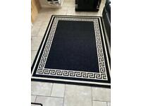 Black and cream rugs set of 3