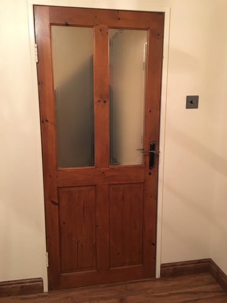 Internal Glass Panel pine door