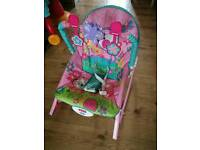 Pink Fisher Price Rainforest Infant to Toddler Baby Rocker