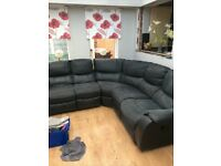 HARVEYS BLACK RECLINER CORNER SOFA - MUST GO TODAY TODAY - CHEAP DELIVERY - £375