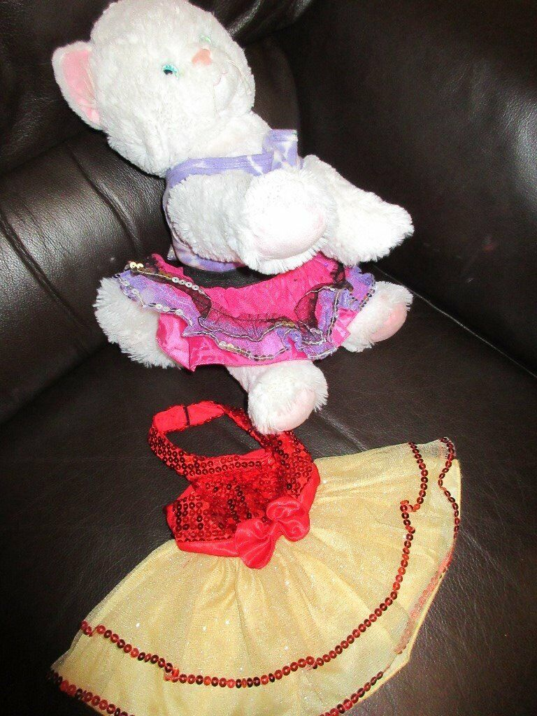 genuine build a bear cat in beautiful outfit sequinned. Black Bedroom Furniture Sets. Home Design Ideas