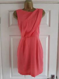 Topshop Coral Dress Sz 8