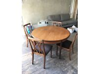 G-Plan extending dining table and 4 chairs