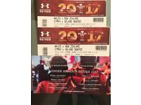 WALES RUGBY TICKETS V NEW ZEALAND PAIR GREAT SEATS
