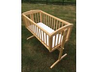 Mothercare swinging crib natural