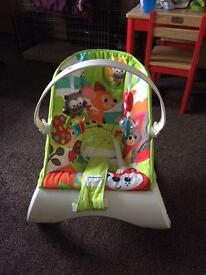 Baby bouncer chair and baby gym mat