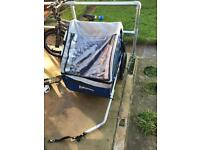 Halfords trail buggy , bike trailer