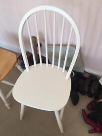 4 x shabby chic chairs