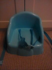 Blue booster seat for child