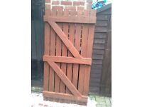 Wooden garden gate, 35 inches x 71 inches,