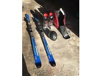Skis boots and helmet good condition