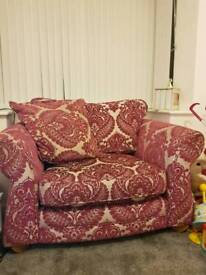 Scs sofa and foot stool