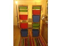 Two pine Storage units £25 each Ono