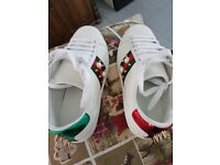 Gucci Ace Trainers sneakers with pearl white size 3.5 UK