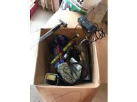 Fish tank and box of equipment